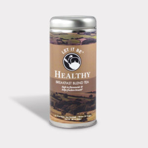 Customizable Healthy Specialty Tea Blend Let It Be Healthy Breakfast Blend Tea in an Easy-Open Silver Tall Tin with 12 Pyramid Tea Sachets