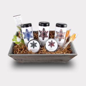 Customizable Specialty Blend Large Snowflake Gift Basket for Holidays, Christmas, and Birthdays