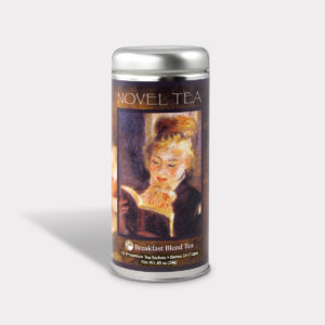 Customizable Private Label All-Natural Healthy Novel Tea in an Easy-Open Silver Tall Tin with 12 Pyramid Tea Sachets in a flavor of your choice