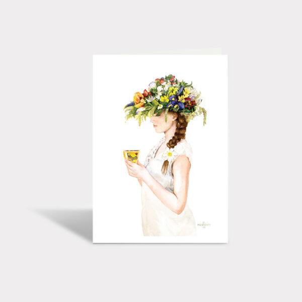 Lady Chamomile Greeting Card