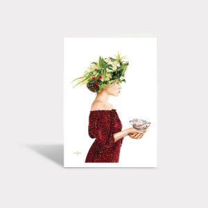 Lady Green Greeting Card