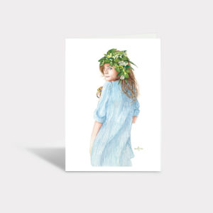 Lemon Lady Greeting Card