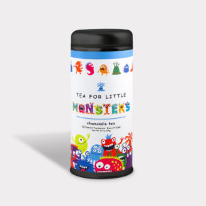 Customizable Private Label All-Natural Healthy Children Tea in an Easy-Open Silver Tall Tin with 12 Pyramid Tea Sachets in a flavor of your choice