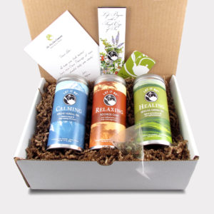 The Comfort Zone Tea Care Package with Calming Serene Herbal, Relaxing Rooibos Chai, and Healing Sencha Green