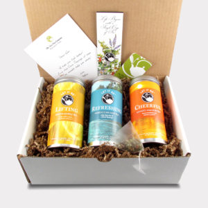 The Cheerleader Care Package with Lifting Lemon Verbena, Refreshing Moroccan Mint, and Cheerful Mango Amazon
