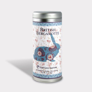 Customizable Private Label All-Natural Healthy Easter Tea in an Easy-Open Silver Tall Tin with 12 Pyramid Tea Sachets in a flavor of your choice