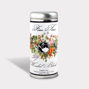 Healthy Customizable Herbal Blends Floral Tea Sampler Tall Tin