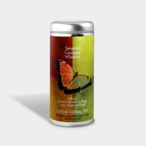 Customizable Private Label All-Natural Healthy Good Luck Tea in an Easy-Open Silver Tall Tin with 12 Pyramid Tea Sachets in a flavor of your choice