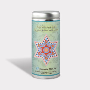 Customizable Private Label All-Natural Healthy May Love and Light Tea in an Easy-Open Silver Tall Tin with 12 Pyramid Tea Sachets in a flavor of your choice