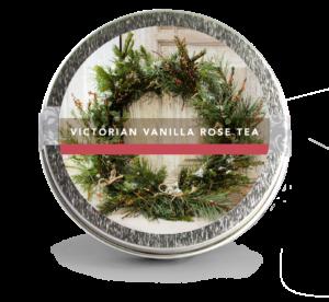 victorian vanilla rose holiday wreath mini tin