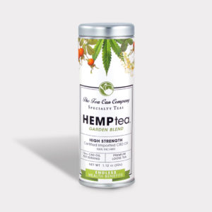 Healthy The Tea Can Company Hemp Tea Garden Blend High Strength CBD Herbal Loose Tea