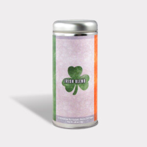 Customizable Private Label Healthy Internationality Ireland Travel Souvenir Tea in an Easy-Open Silver Tall Tin with 12 Pyramid Tea Sachets in a flavor of your choice