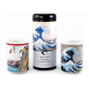 Tokaido Scenes Green Tea and Teacups Gift Set