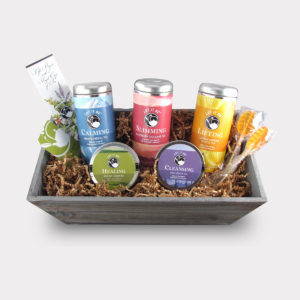 Serene Herbal, Raspberry Oolong, Lemon Verbena, Sencha Green, and Daily Detox Large Let It Be® Gift Basket for Mother's Day, Father's Day, Easter, Summer, College, Birthdays, and Holidays
