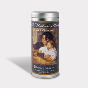 Customizable Private Label All-Natural Healthy Mother's Day Tea in an Easy-Open Silver Tall Tin with 12 Pyramid Tea Sachets in a flavor of your choice