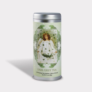 Customizable Private Label All-Natural Healthy St. Patrick's Day Tea in an Easy-Open Silver Tall Tin with 12 Pyramid Tea Sachets in a flavor of your choice