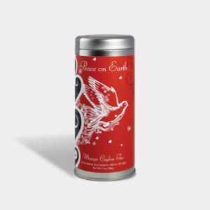 Holiday Peace on Earth Tall Tin Tea Gift
