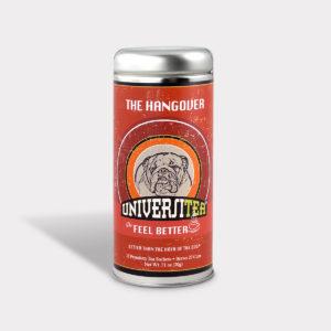 Customizable Private Label Healthy Universitea Hangover Tea in an Easy-Open Silver Tall Tin with 12 Pyramid Tea Sachets