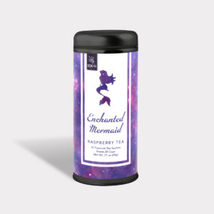 Customizable Private Label All-Natural Healthy Magic Mermaid Tea in an Easy-Open Silver Tall Tin with 12 Pyramid Tea Sachets in a flavor of your choice