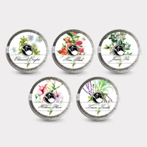 Healthy Customizable Floral Tea Mini Tin Variety Set