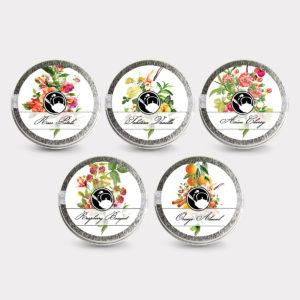 Healthy Customizable 5 Rose Petals Tea Mini Tin Variety Pack