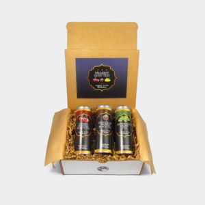 Rich and Decadent Candy Shop Cherry Cordial Green Tea, Chocolate Truffle Black Tea, and Peppermint Green Tea Skinny Tin Tea Collection Gift Box