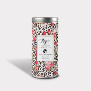 Healthy Pinkolicious Oolong Tea in an Easy-Open Silver Tall Tin with 12 Pyramid Tea Sachets for Breast Cancer Awareness and Fundraisers