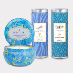 Lavender Provence Candle & Tea Gift Set