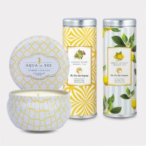 Lemon Chiffon Candle & Tea Gift Set