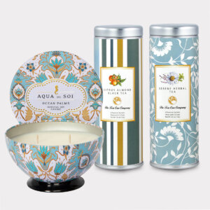 Ocean Palms Candle & Tea Gift Set