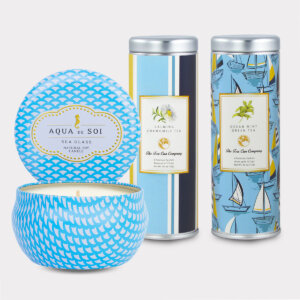 Sea Glass Candle & Tea Gift Set