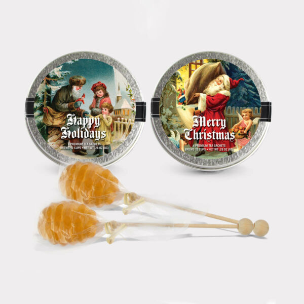 Santa Mini Tins with Honey Pops
