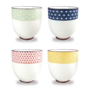 geometric patterns teacup set