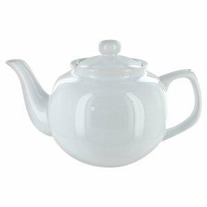 large white teapot