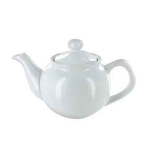 ceramic white teapot