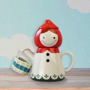 Cute Little Red Riding Hood Ceramic Teapot and Teacup Set for Children