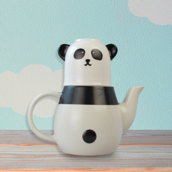 Panda Tea Cup and Pot