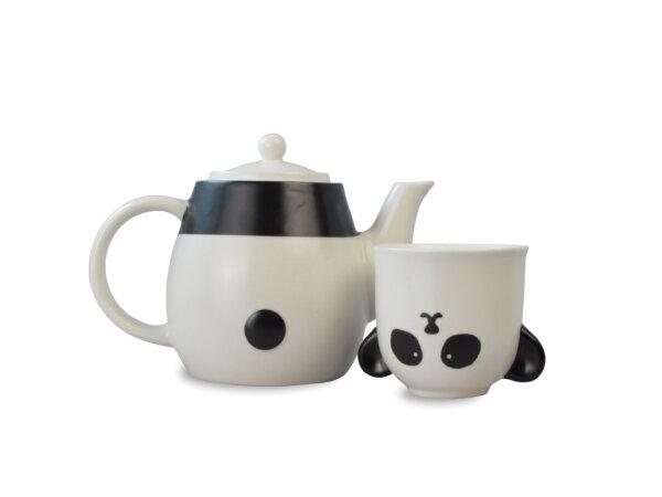 Cute Panda Ceramic Teapot and Teacup Set for Children