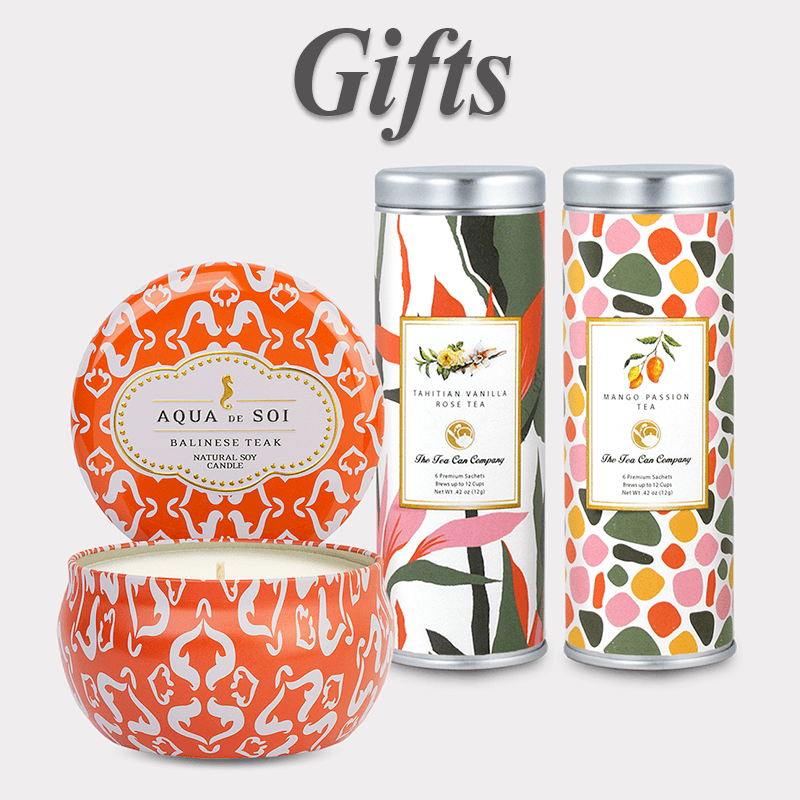 tea and candle gift set